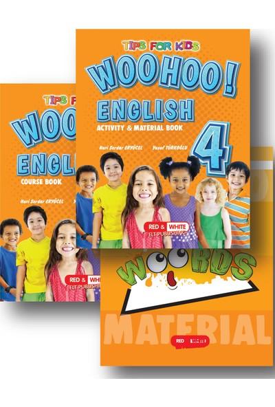 Kırmızı Beyaz Woohoo Englısh Course + Actıvıty & Materıal Book 4