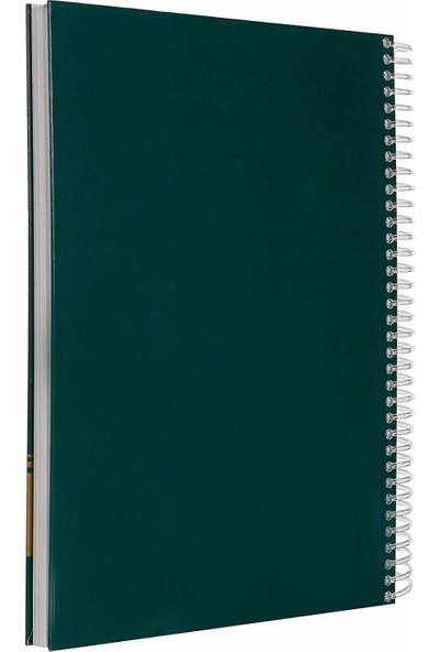 Faber-Castell Sert Kapak Seperatörlü 3+1 Bölümlü Yeşil Defter 120 Yaprak