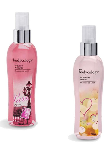 Bodycology Pretty In Paris ve Runaway Heart Vücut Spreyleri 88 ml