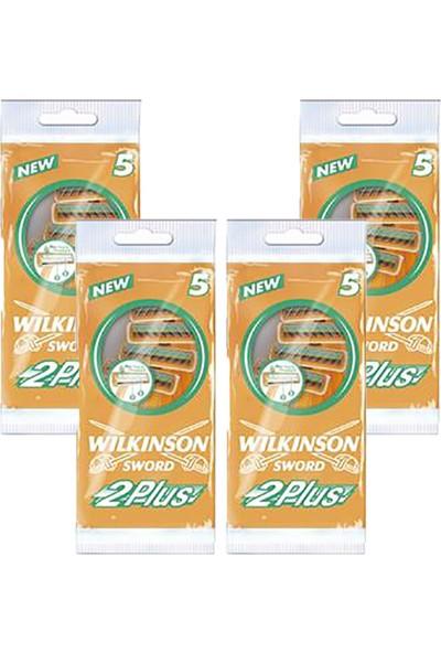 Wilkinson Sword 2 Plus Çift Bıçaklı Kayganlaştırıcı Bantlı 5'li Tıraş Bıçağı 4lü Poşet
