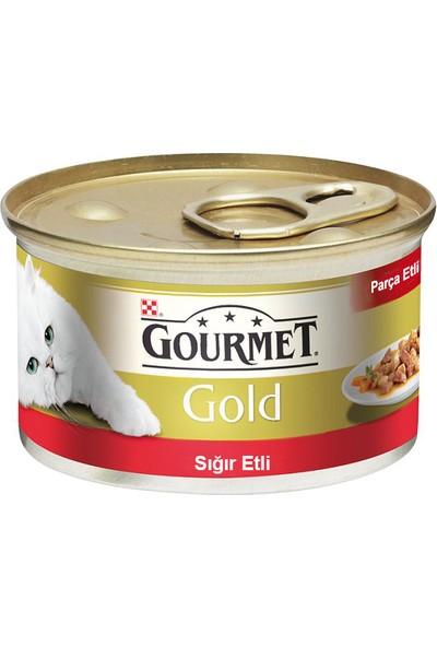 Gourmet Gold Parça Sığır Etli Konserve 85 g x 12 Adet