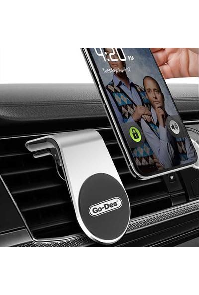 KNY Go Des HD 633 Manyetik Mandallı Telefon Araç Tutucu Siyah
