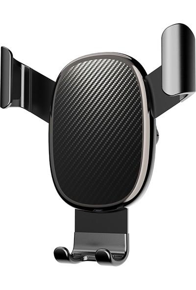 Happyshop Voero X11 Karbon Desenli Araç Telefon Tutucusu Siyah