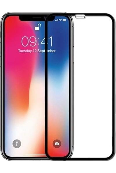 Syronix Apple iPhone XS Tam Kaplayan 9D Temperli Ekran Koruyucu + Silikon Kılıf Siyah