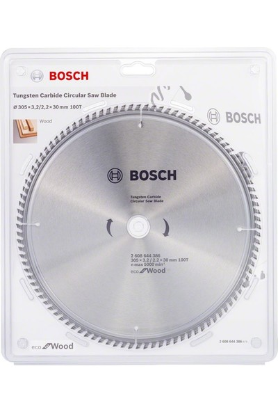 Bosch Optiline Eco 305 x 30 mm 100 Diş Ahşap Kesme Testeresi