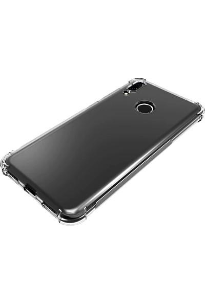 Aktif Aksesuar Huawei Y7 2019 Kılıf Şeffaf Dört Köşe Korumalı