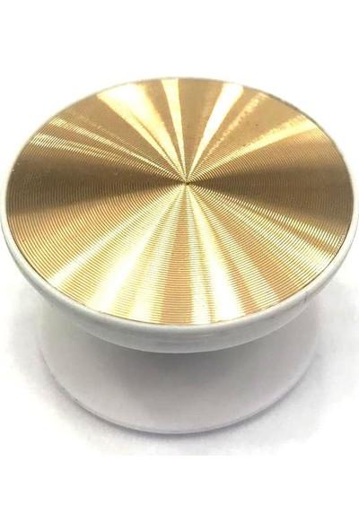 Pars Pop Soket Telefon Tutucu Selfi Aparatı Masaüstü Stand - Sarı Gold