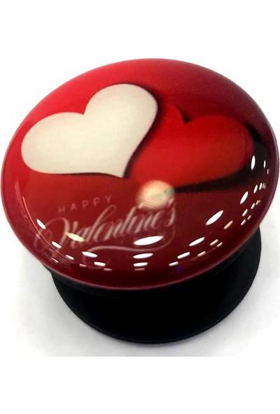 Pars Pop Soket Telefon Tutucu Selfi Aparatı Masaüstü Stand - Kalp Model