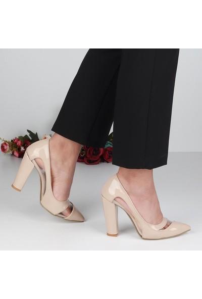 Föz Ten Rugan Stiletto Kadın Topuklu Ayakkabı