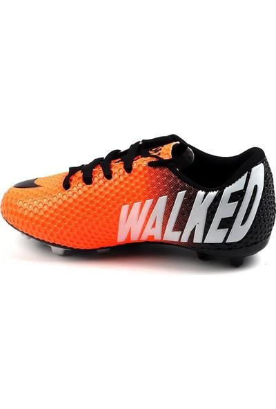 Walked 401 Turuncu Krampon Çim Erkek Çocuk Futbol Spor Ayakkabı