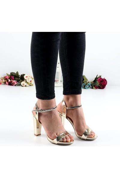 Föz Dore Tek Bant Kadın Topuklu Ayakkabı