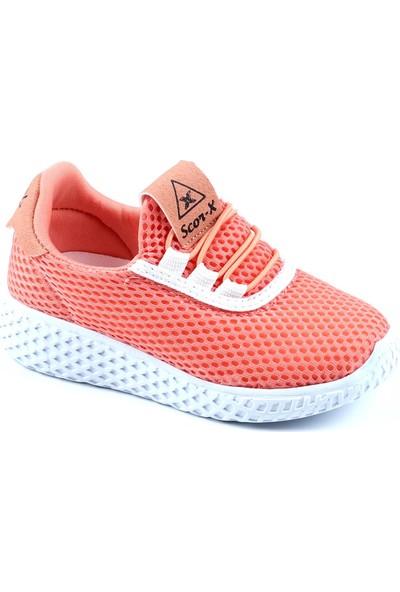Scor-x Pudra Ultra Hafif Rahat Kız Çocuk Spor Ayakkabı