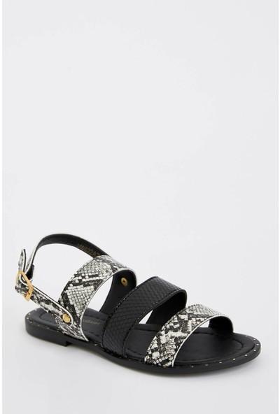 Defacto Kadın Yılan Desenli Sandalet