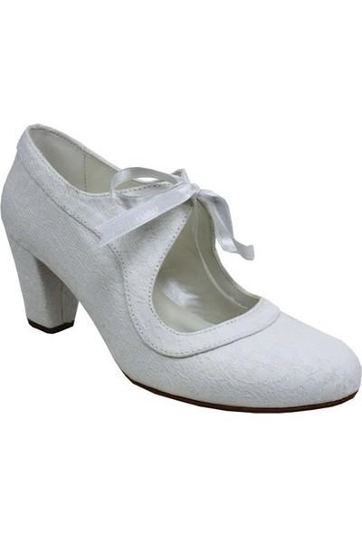 Kadir Ekici Beyaz Bağ Ayakkabı