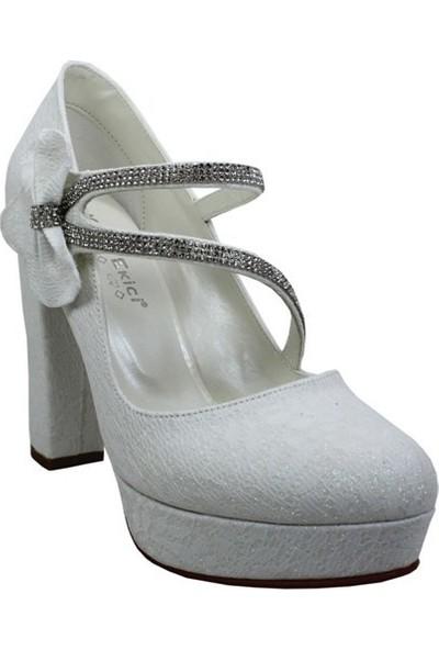 Kadir Ekici Platform Taşlı Ayakkabı
