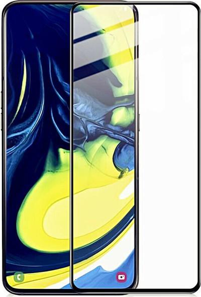 Smody Samsung Galaxy A80 Cam Tam Yapışan Ekran Koruyucu Çerçeveli A805F