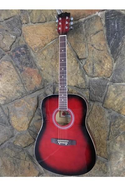 Castilla Elektro Akustik Gitar Kırmızı Castilla Xfp41-11C/Lc5-Rb