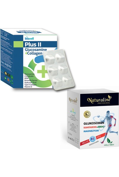 Glukozamin Set (Biowell Plus Iı Tablet + Naturaline Glucsm. Krem)