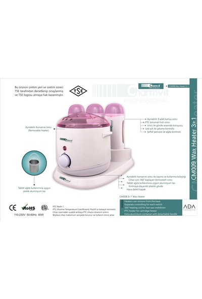 Charmvit Professional CM009 3+1 Ağda Makinesi