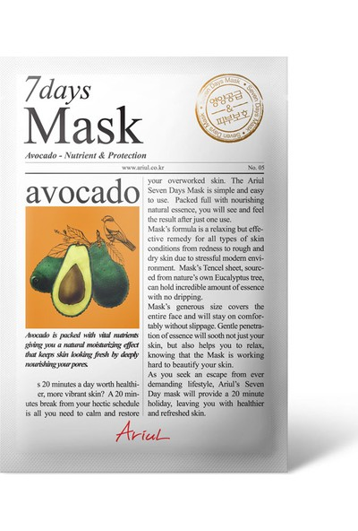 Ariul Seven Days Mask - Avocado