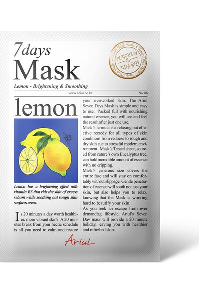 Ariul Seven Days Mask - Lemon