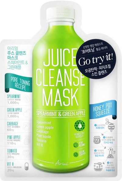 Ariul Juice Cleanse Mask - Spearmint & Greenapple