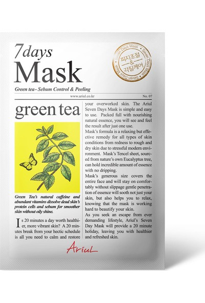Ariul Seven Days Mask - Green Tea