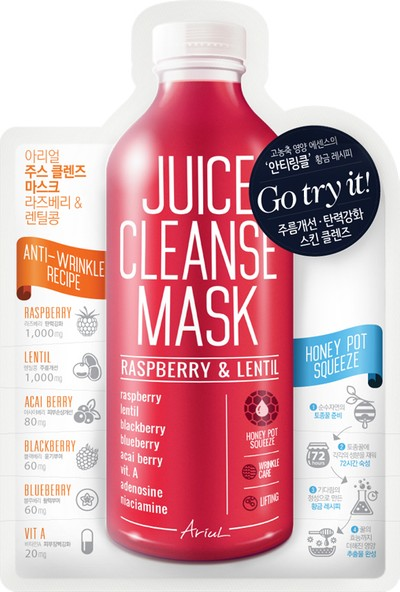Ariul Juice Cleanse Mask - Raspberry & Lentil