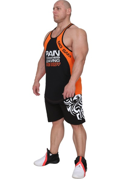 Fileli Çok Parçalı Fitness Antrenman Atleti Big Sam 2290