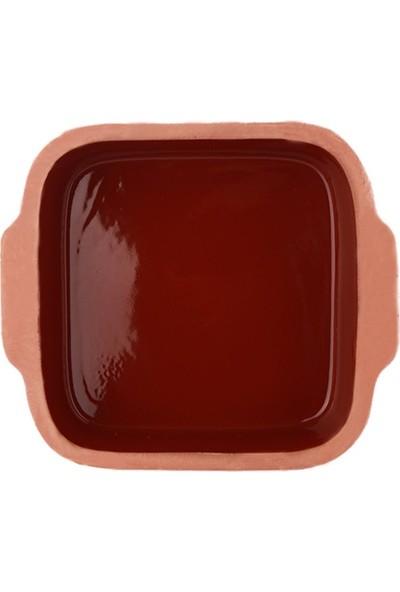Doğa Çömlekcilik Güveç Fırın Tepsi Kare-26 cm