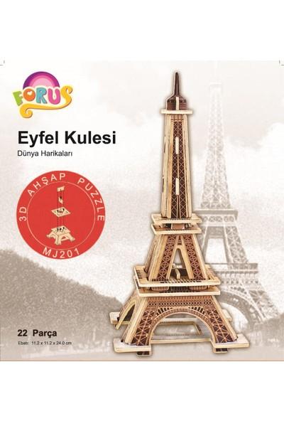 Forus Eyfel Kulesi 3D Ahşap Puzzle\22 Parça
