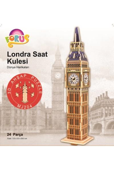Forus Londra Saat Kulesi 3D Ahşap Puzzle