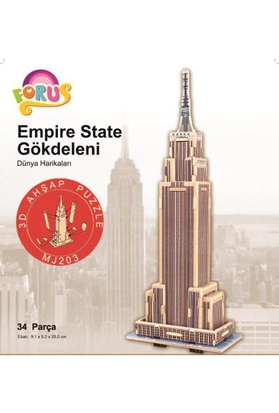 Forus Empire State Gökdeleni 3D Ahşap Puzzle\34 Parça