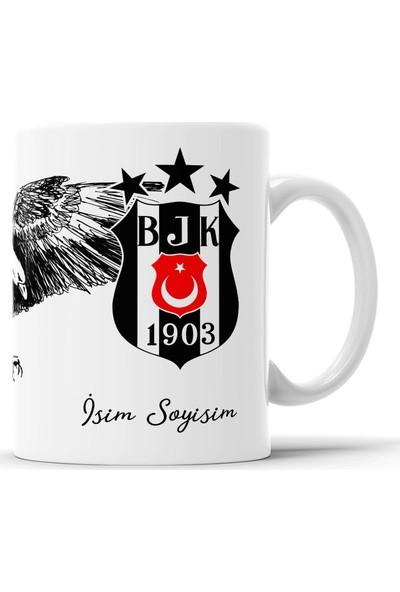 Endigift Beşiktaş Kişiye Özel Isim Baskılı Kupa Bardak