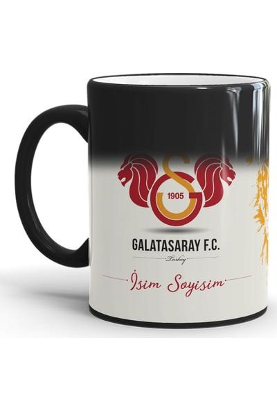 Endigift Galatasaray Kişiye Özel Isim Baskılı Sihirli Kupa Bardak