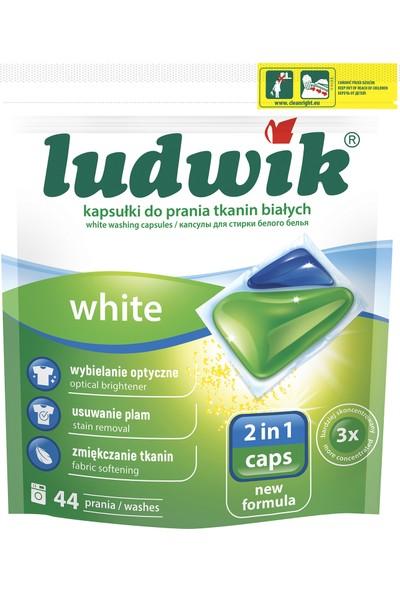 Ludwik Ikisi Bir Arada Sıvı Kapsül Çamaşır Deterjanı Beyazlar Için 44 Yıkama