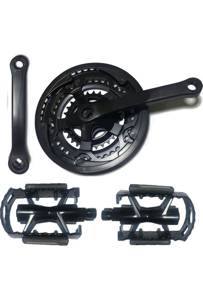 Hsgl Aynakol Siyah 42T ve Siyah Pedal Set