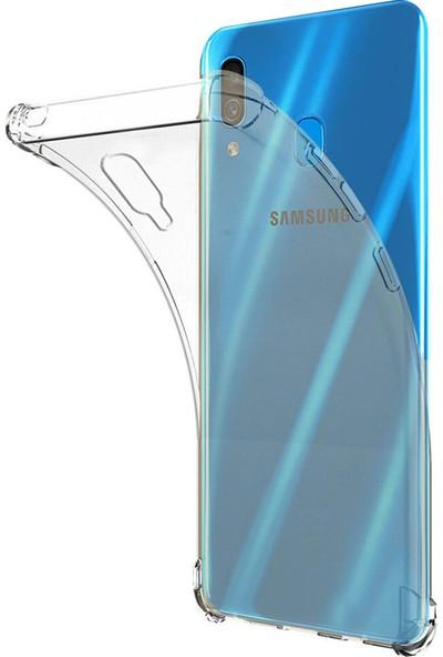 Aktif Aksesuar Samsung Galaxy A30 Kılıf Şeffaf Köşe Korumalı
