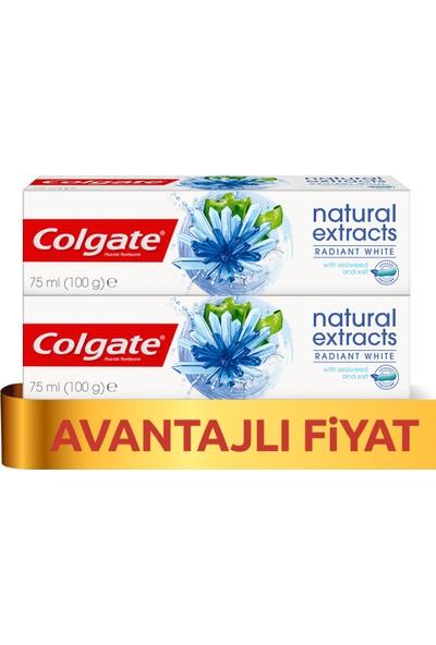 Colgate Natural Extracts Deniz Yosunu Tuzu Beyazlatıcı Diş Macunu 75 ml x 2 Adet
