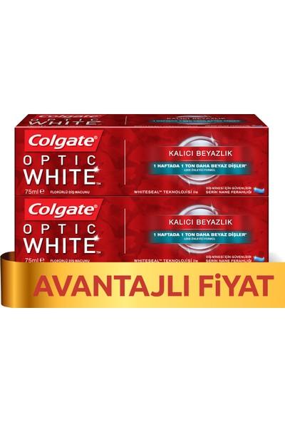 Colgate Optik Beyaz Kalıcı Beyazlık Beyazlatıcı Diş Macunu 75 ml x 2 Adet