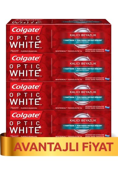 Colgate Optik Beyaz Kalıcı Beyazlık Beyazlatıcı Diş Macunu 75 ml x 4 Adet