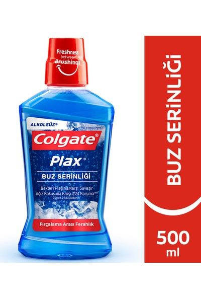 Colgate Plax Buz Serinliği Alkolsüz Gargara 500 ml