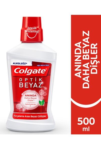 Colgate Plax Optik Beyaz Alkolsüz Gargara Ağız Suyu Fırçalama arası Beyazlık 500 ml
