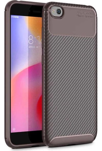 Zore Xiaomi Redmi Go Negro Silikon Kılıf Kahverengi