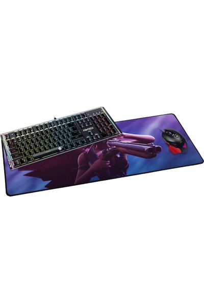 Fantech 2019 70 x 30 cm 3 mm Fortnite Çifteli Kadın Oyuncu Mousepad