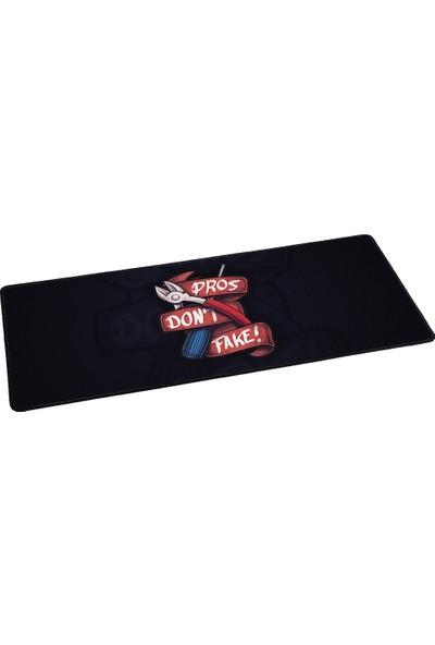 Fantech 2019 70 x 30 cm 3 mm Cs-Go Pros Dont Fake Oyuncu Mousepad