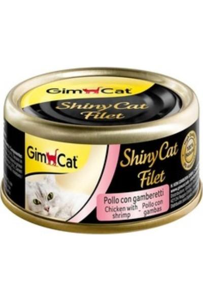 Gimcat Shinycat 24'Lü Kıyılmış Fileto Tavuk Man Gro Kedi Konserve 70 Gr