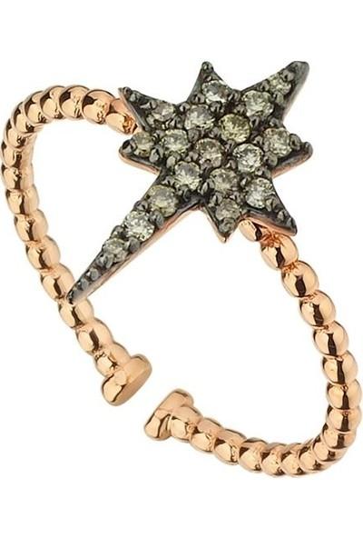 Arm Pırlanta Pırlanta Yüzük Pole Star Kutup Yıldızı