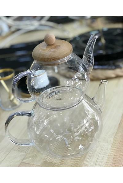 Acar Cam Çaydanlık Takımı Isıya Dayanıklı Borasilikat Cam