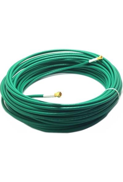 Herz 15METRE Yeşil RG6U6 Anten Kablosu Full Hd 4K
